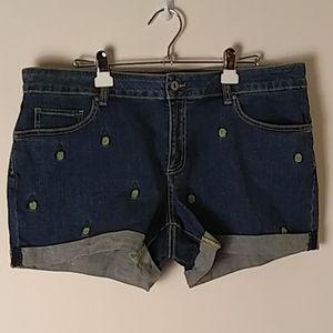 Denim Shorts,  5-Pocket, Size16